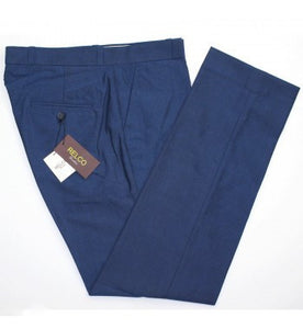 Relco Blue Tonic Sta Prest Trousers