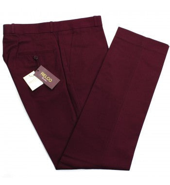 Relco Burgundy Sta Prest Trousers