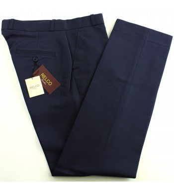 Relco Navy Sta Prest Trousers