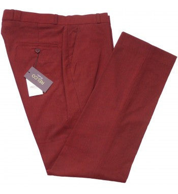 Relco Red Tonic Sta Prest Trousers