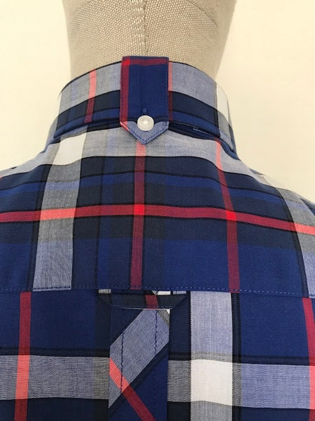 Trojan Blue Check Short Sleeve Shirt