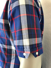 Load image into Gallery viewer, Trojan Blue Check Short Sleeve Shirt
