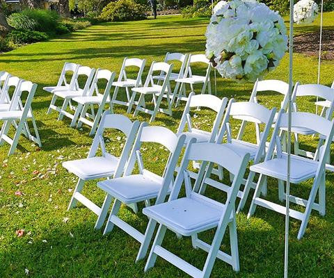 White Americana Wedding Chairs