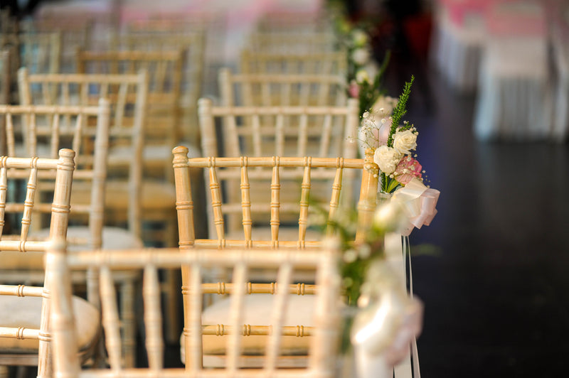 WOW these Chairs a Stunning - White Wash Tiffany/Chiavari Chairs