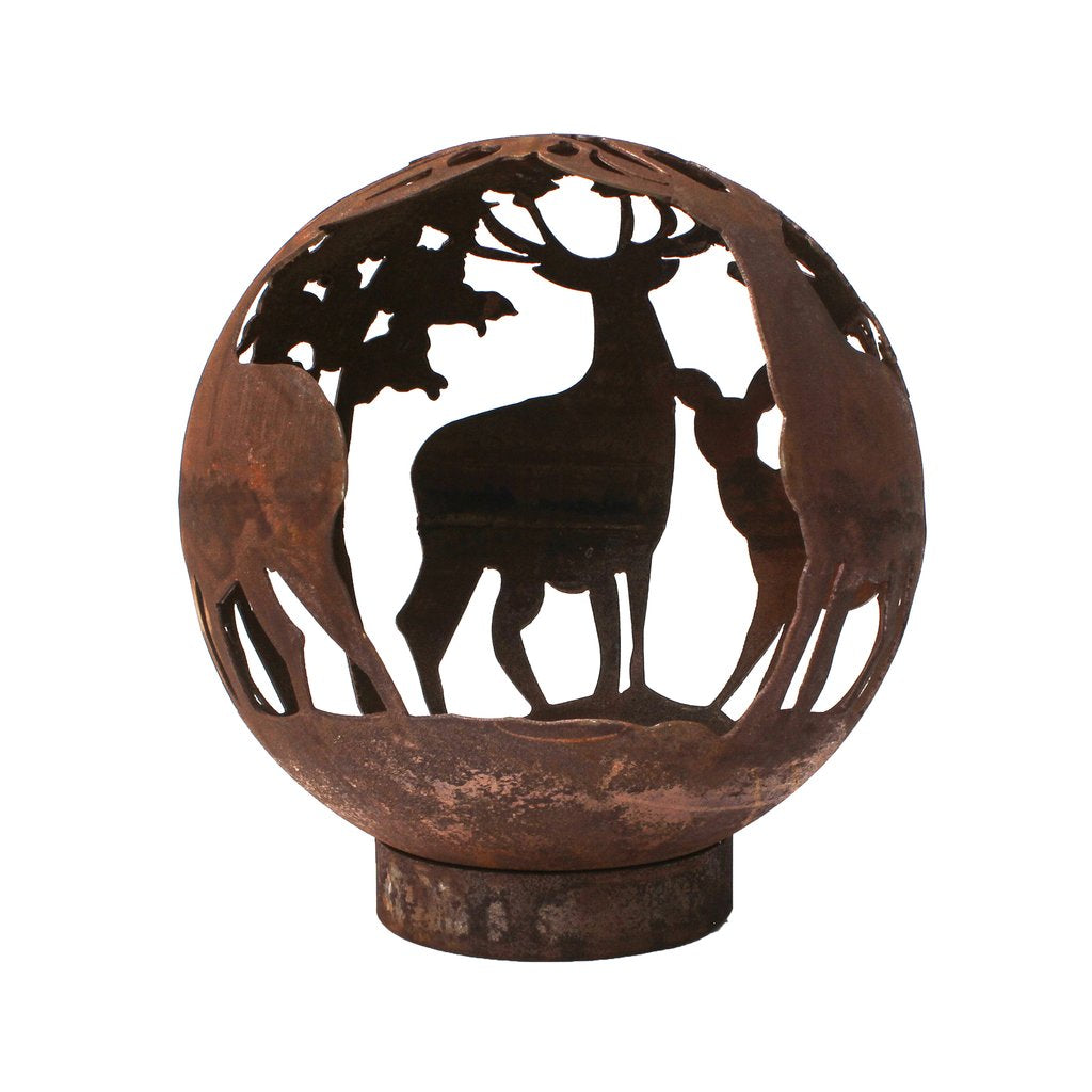 Stag and Doe Deer Fire Pit