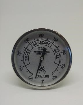 small silver tel-tru thermometer for sale