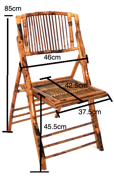 Bamboo Folding chair Size