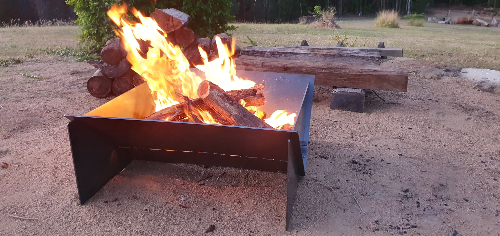 big camping fire pit collapsable