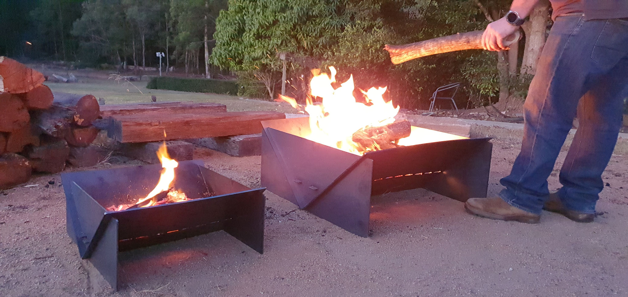 camping portable fire pits