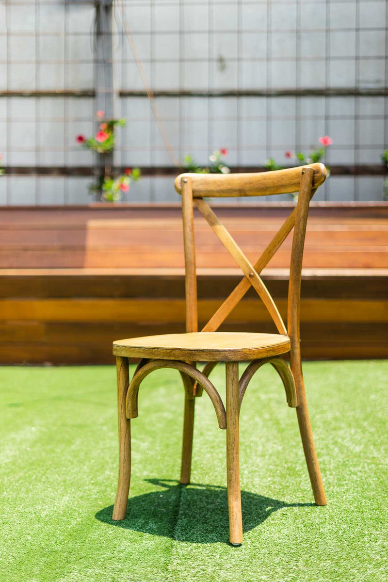 Cross back Chair - natural wood