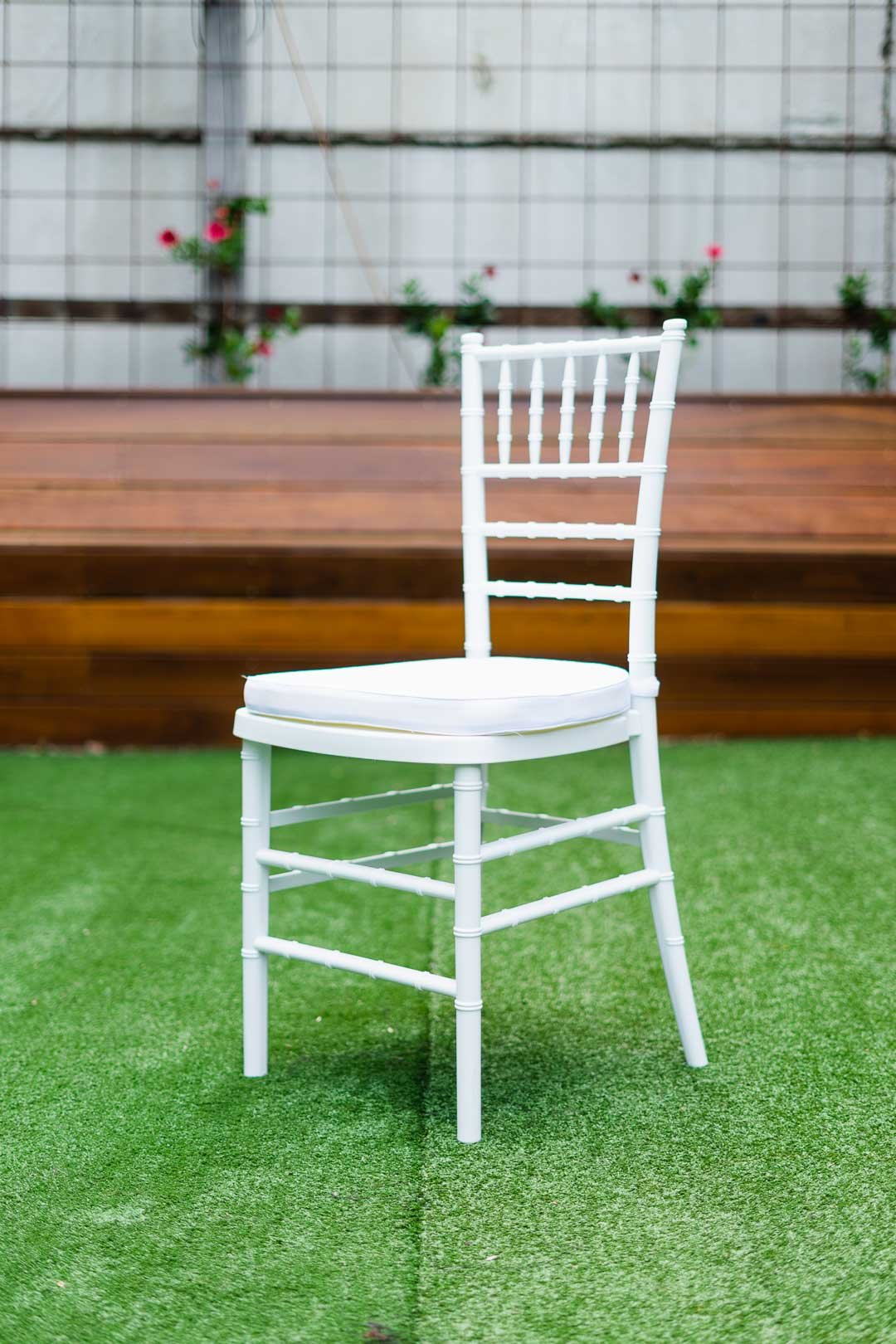 White Wooden Tiffany Chair for sale