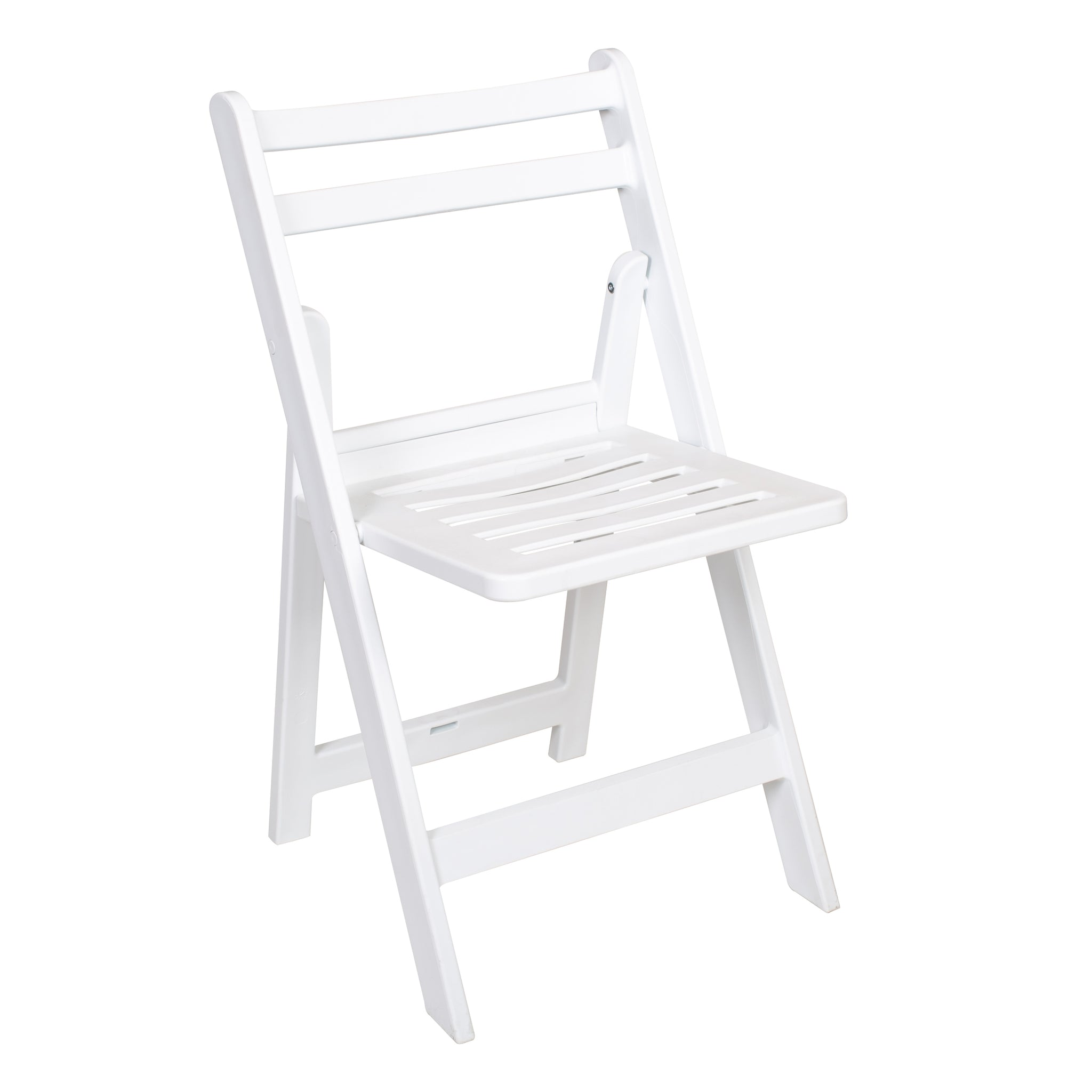 Slatted White folding americana chairs