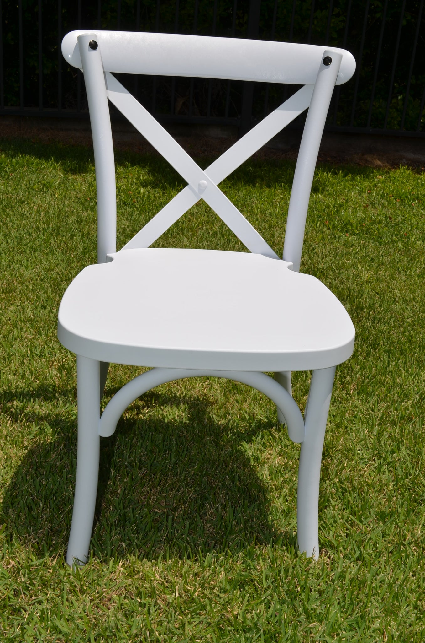 Kids Cross Back Chairs - White