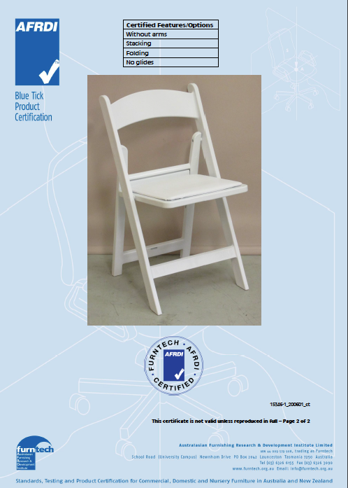 White Americana Chairs - BULK 52+