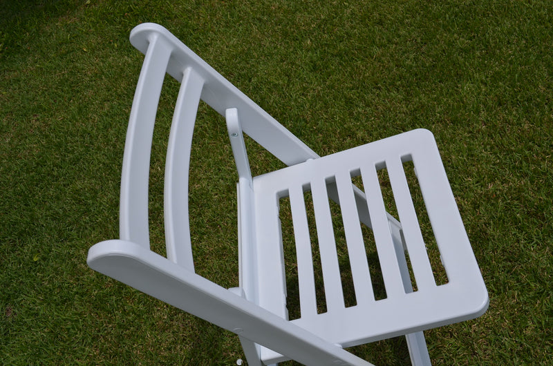 Slatted White Wedding chairs