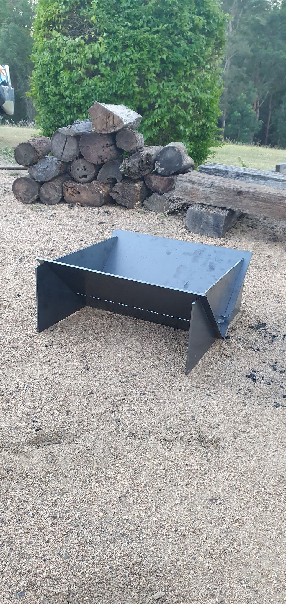 "Collapsible Fire pit - ""BIG Bertha"""