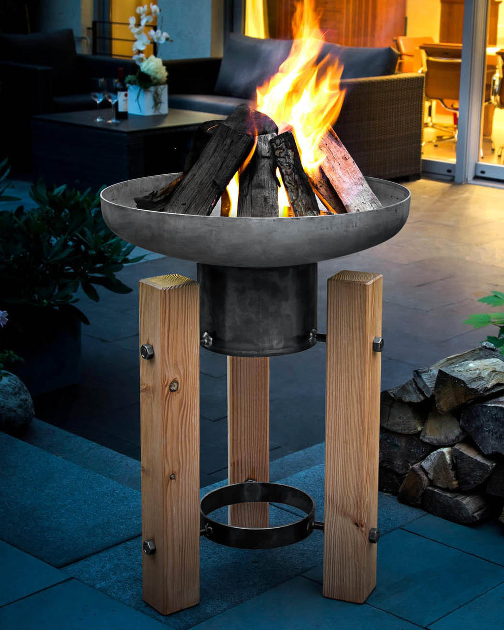 Wooden Frame Fire Pit