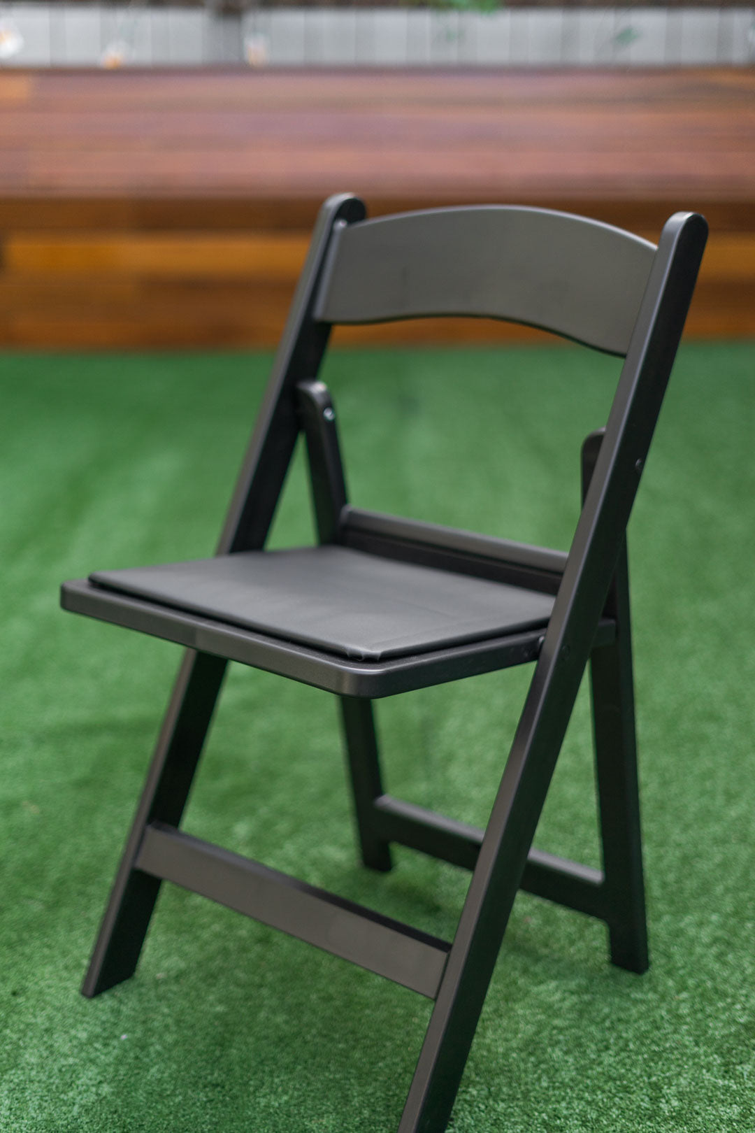 black plastic americana chair