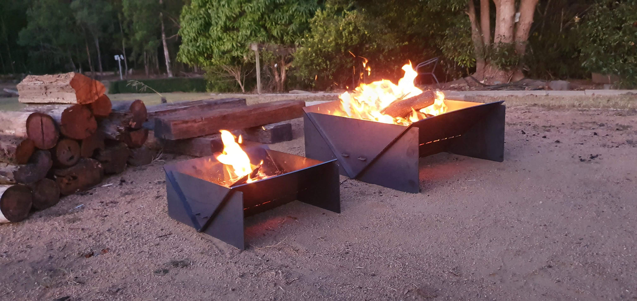 collapsible fire pits for camping