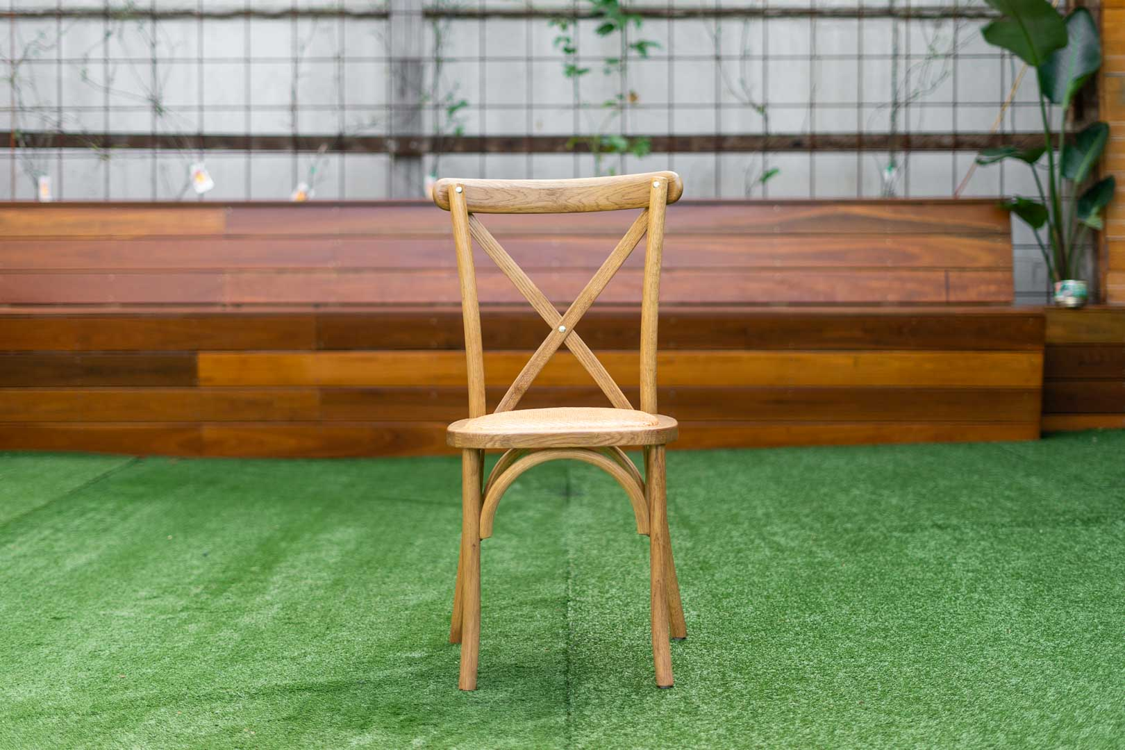 Oakwood Crossback Chair bentwood with rattan seat