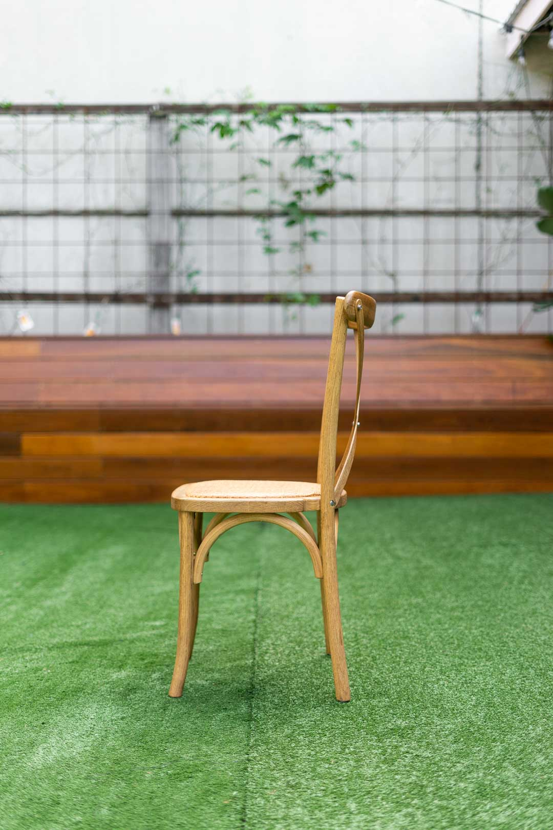 bentwood Crossback Chair with rattan seat