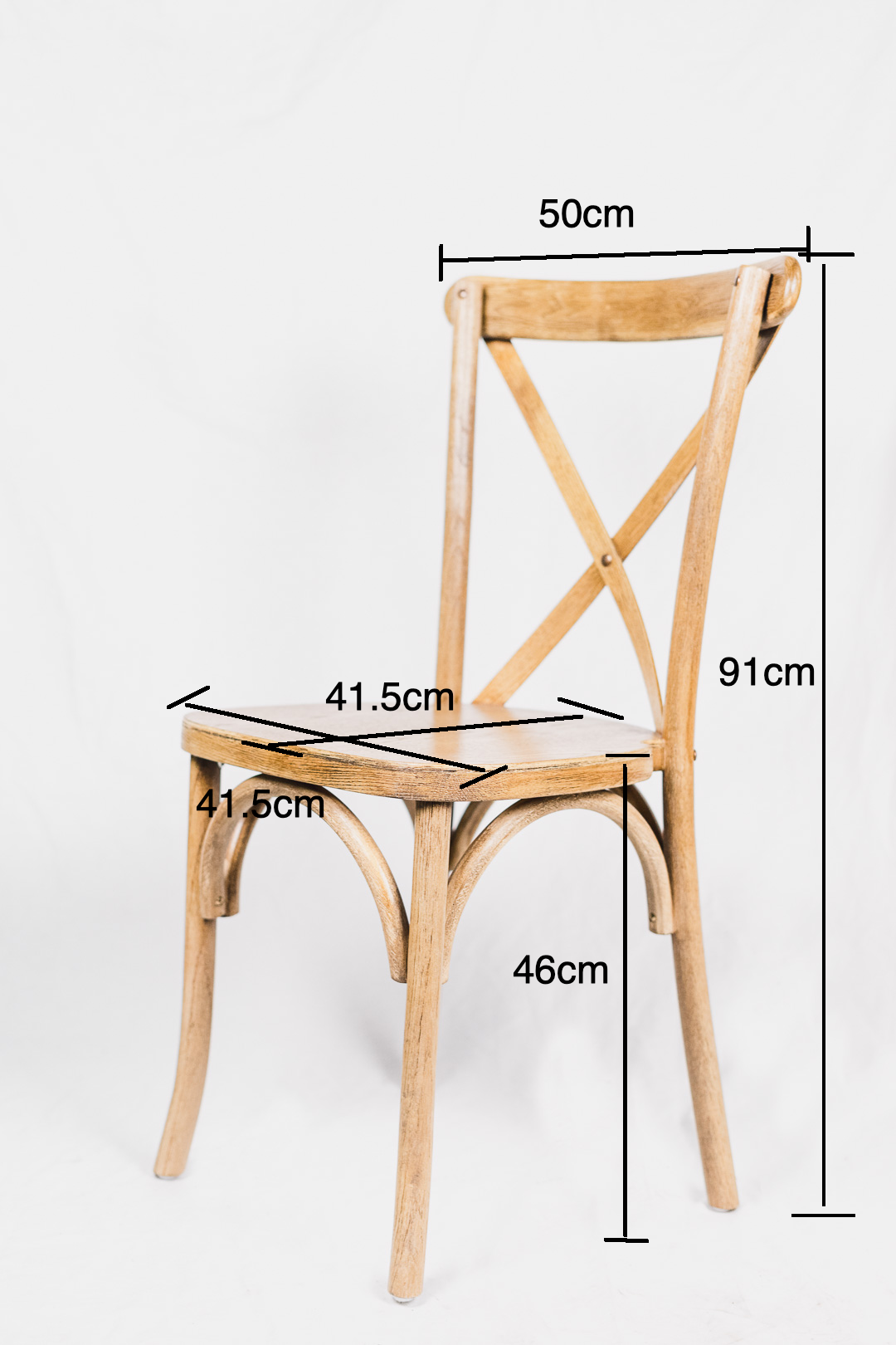 Cross back Bentwood natural chair
