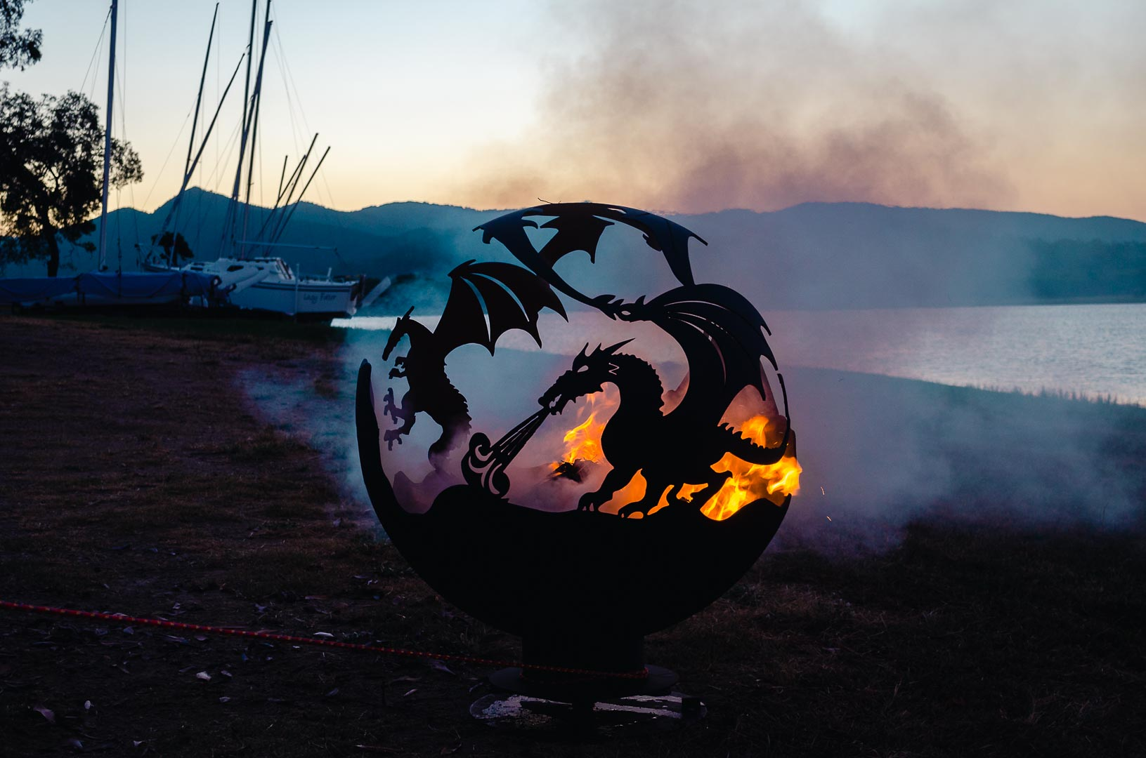 dragon firepit sphere for sale