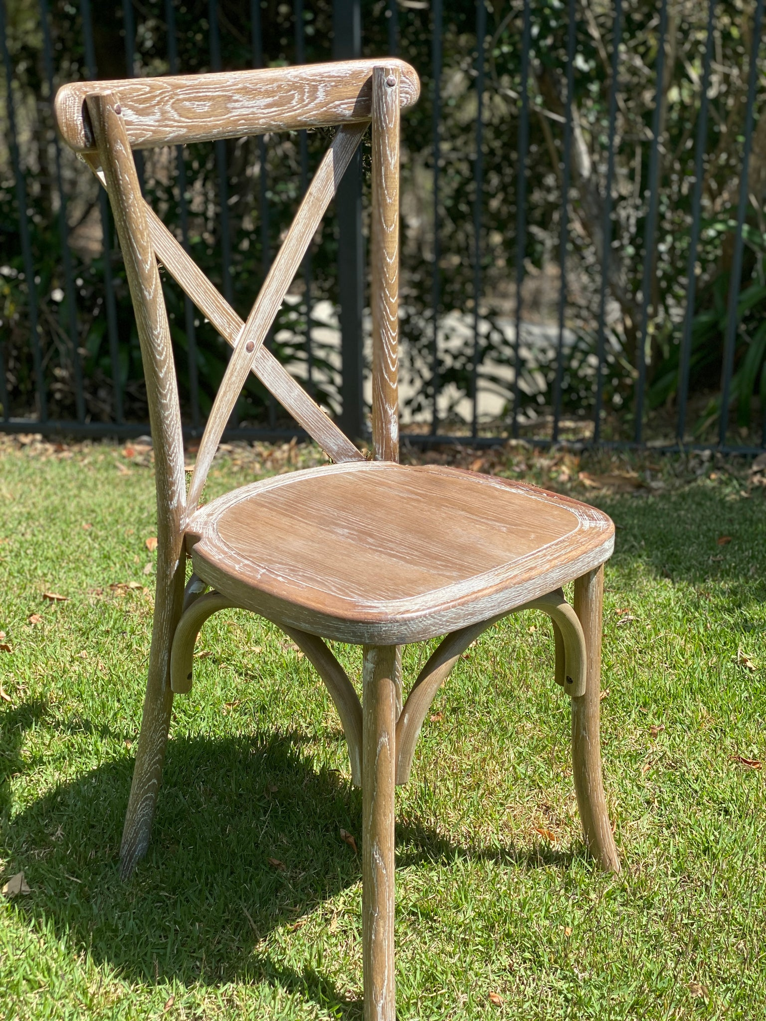 Bentwood Cross back Chair - White Wash Antique Style with Plain Seat 6 chairs @ $99each