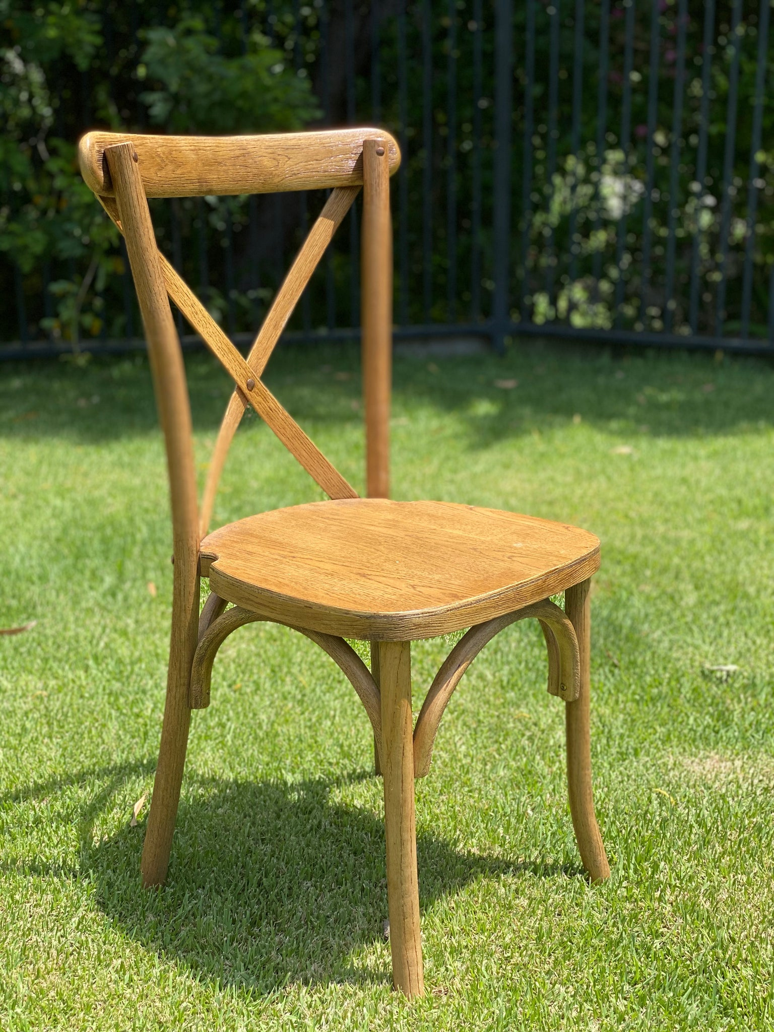 Bentwood Cross back Chair - Natural Oakwood