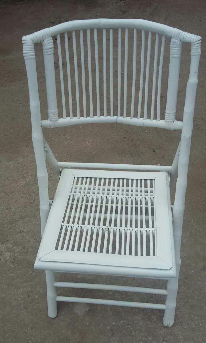 WHITE - Bamboo Folding Chair 4 chairs @ $65 each