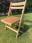 Slatted Americana Chairs - Natural Timber 4 chairs @$45 each