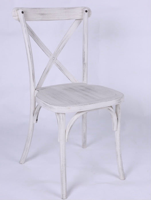 Resin Crossback wood look chair