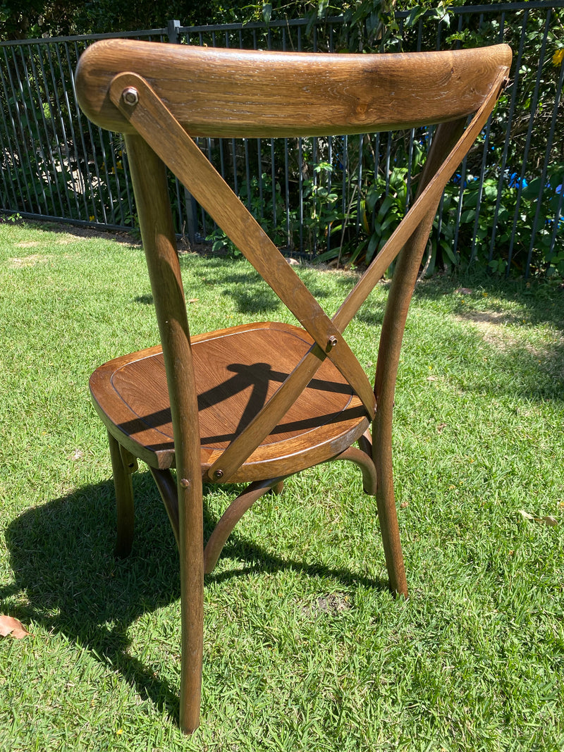 Bentwood Cross back Chair - Dark Oakwood 6 chairs @$109 each