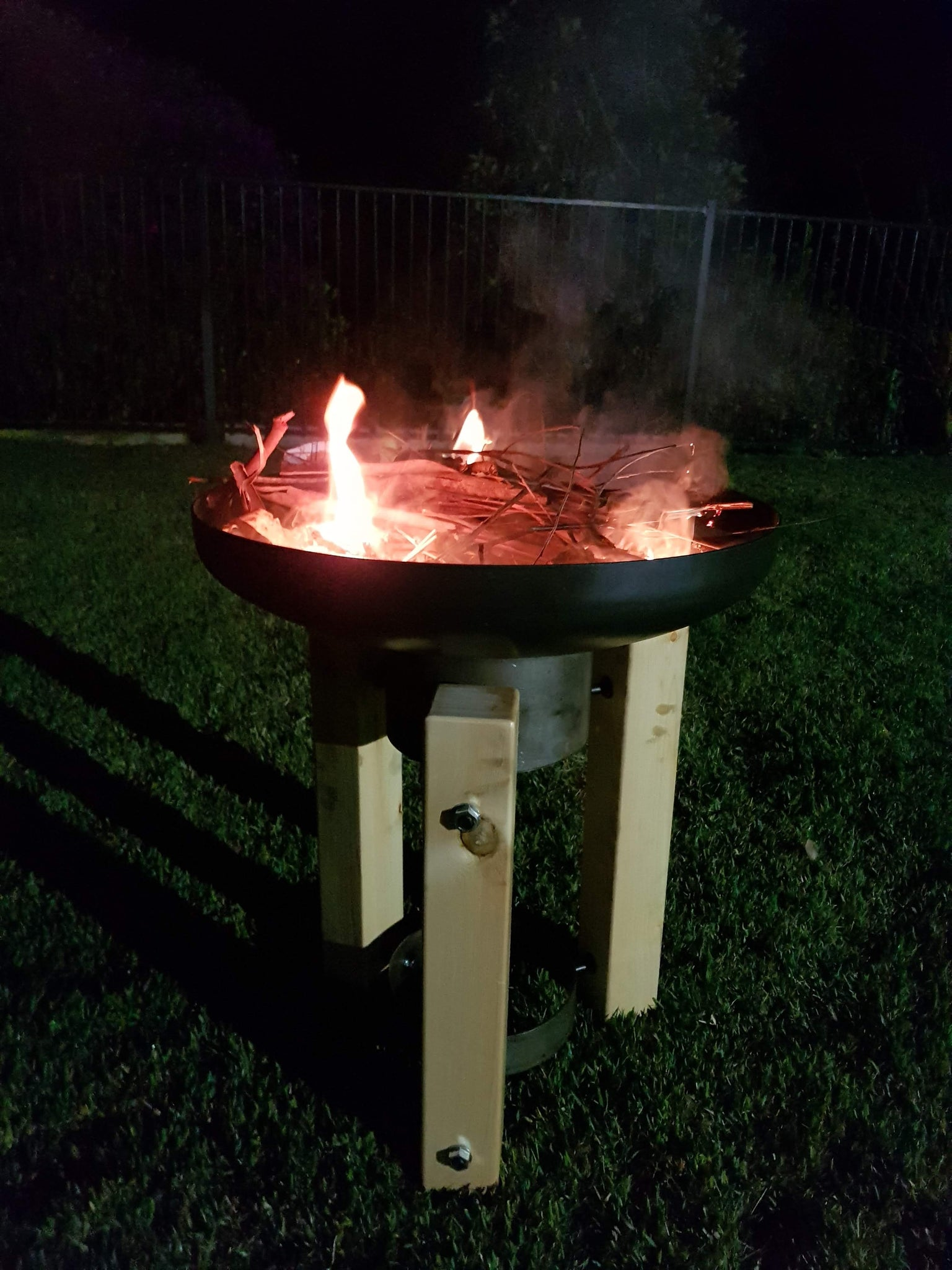 Wooden Frame Fire Pit / Planter