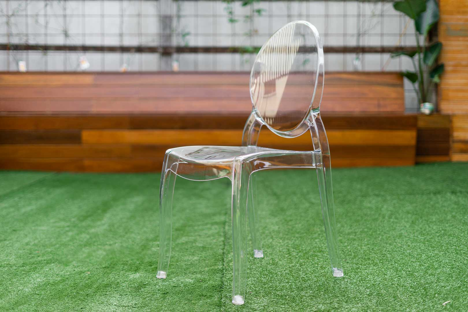 Ghost Chair Clear - Large seat 4 Chairs @ $69 each =$276