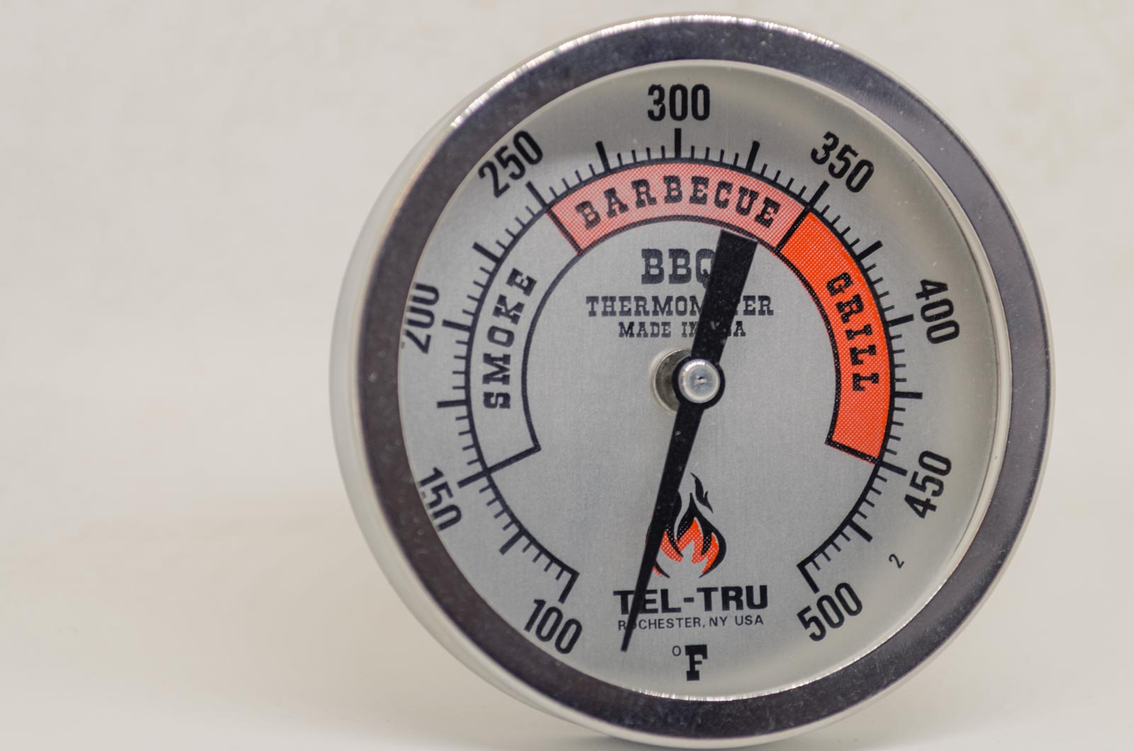 silver tel-tru thermometer for sale