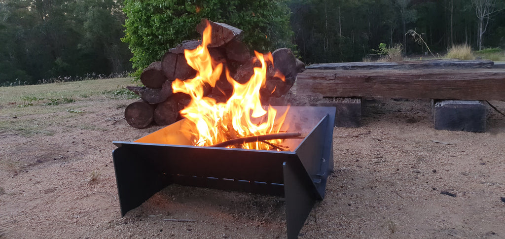 "Collapsible Camping Fire pit - ""Burn Buddy"""