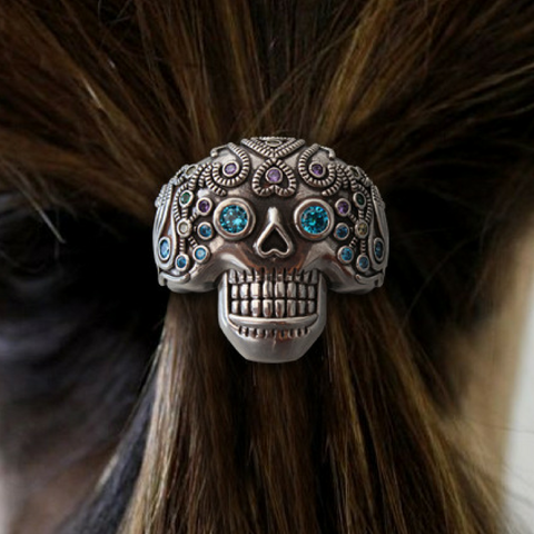 Skull Diamond Hair Band