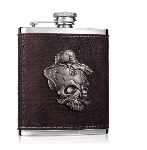 7oz Skull Whiskey Flask