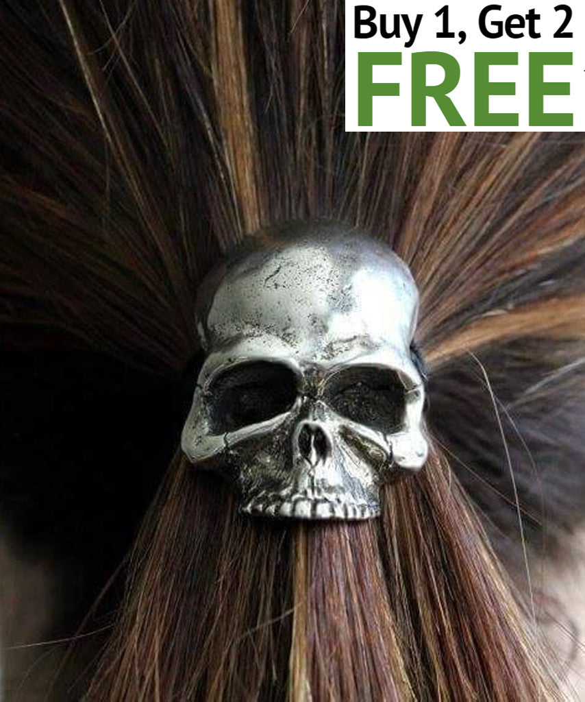 SKULL ROPE ELASTIC HAIR BAND