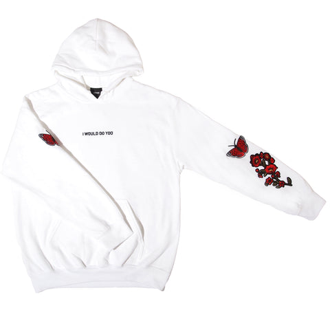 Hoodie WHITE - PATCHED