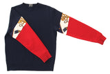 Sweater Vintage Sleeve NAVY - RED