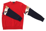 Sweater Vintage Sleeve RED - NAVY