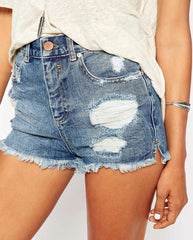 Denim Waist Shorts