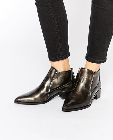 Brushed Leather Boots