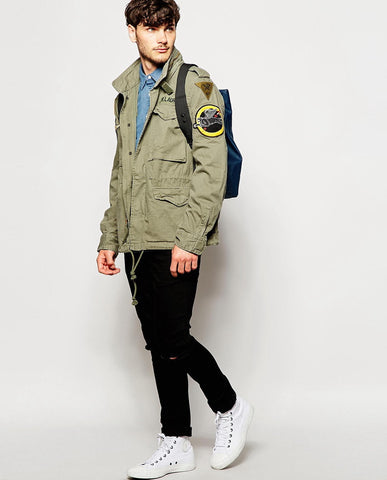 product Denim Field Jacket best shopify theme Youstore
