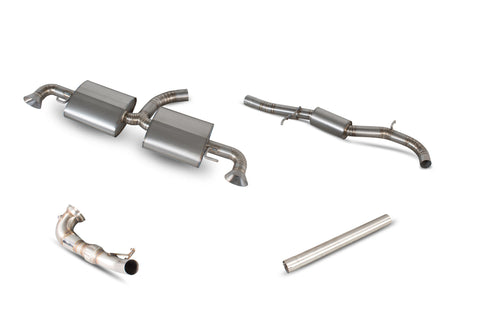 TTRS MK2 Scorpion Exhaust Titanium Exhaust System with Sport Cat
