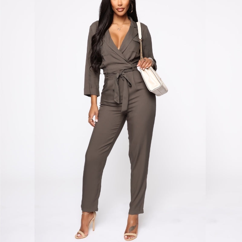 All Dressed Cargo Jumpsuit Olive