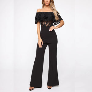 Lacey Layers Jumpsuit Black