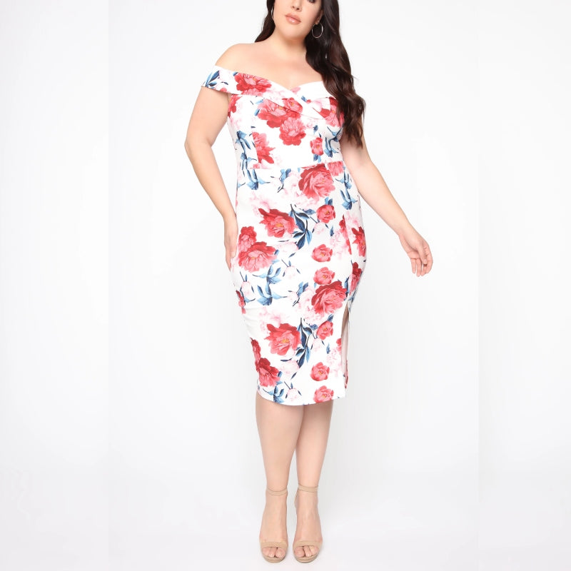 Floral Fantasy Midi Dress